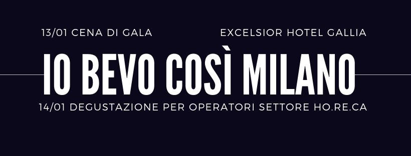 Io Bevo Cosƪ Milano 2019